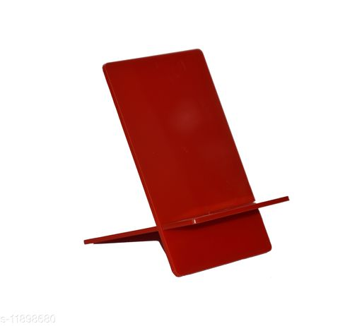 MADE IN INDIA MOBILE STAND (ACRYLIC ) IN ATTRACTIVE COLORS  -Portable -RED