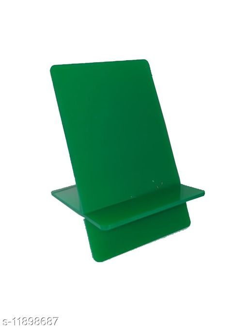 MADE IN INDIA MOBILE STAND (ACRYLIC ) IN ATTRACTIVE COLORS  -Portable -GREEN