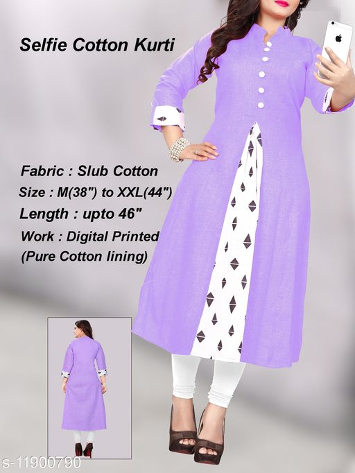 Women's Printed Khadi Cotton Anarkali Kurti