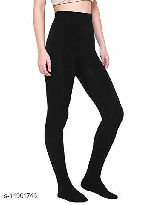 JACEE Women's Black Pantyhose, 80 Denier, Matte Medium/Large (Almost Non Transparent)