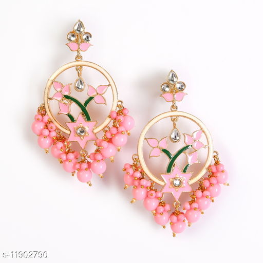 Zullie - Fancy Earring With Pearls & Beads for women