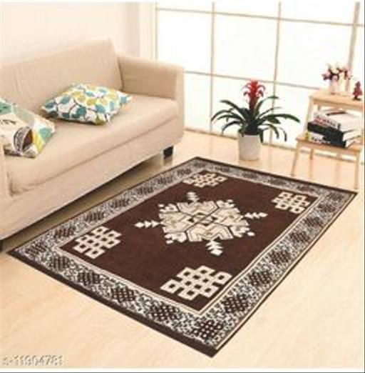 "excell loomtex Presents Velvet Carpet - |60"" inch x 84"" inch | 150 cm x 210 cm | 5 Feet x 7 Feet |"