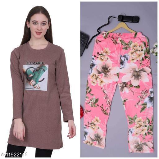 Stylish Women Sweatshirt With Fancy Lower