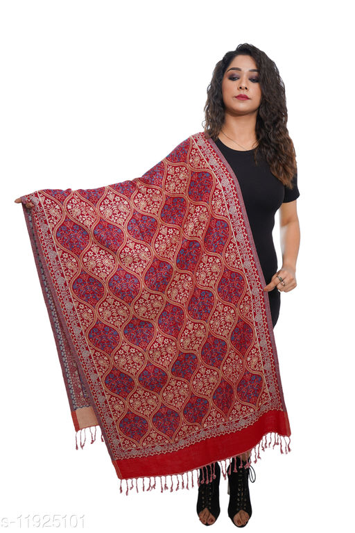Women Mutki Pattern, designer Wool blend stole