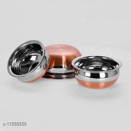 Copper Bottom Handi Set of 3 ( 0.5 L, 0.75 L, 1.2 L  Stainless Steel)