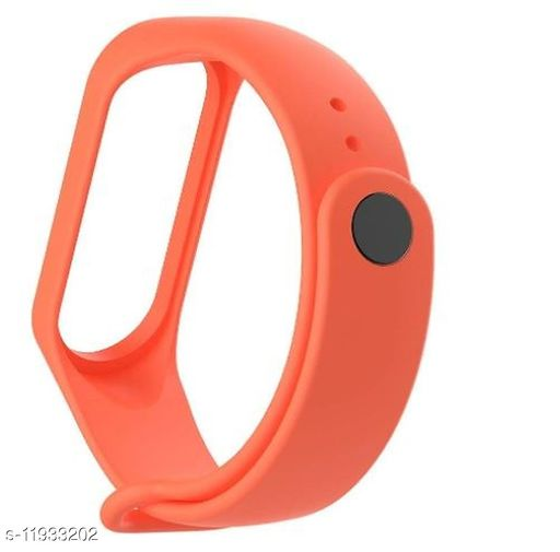 Smart Band Strap for Xiaomi Mi Band 3 & M4 ,Soft Silicone Replace Part for Fitness Sports Activity_Orange (Device not Included)