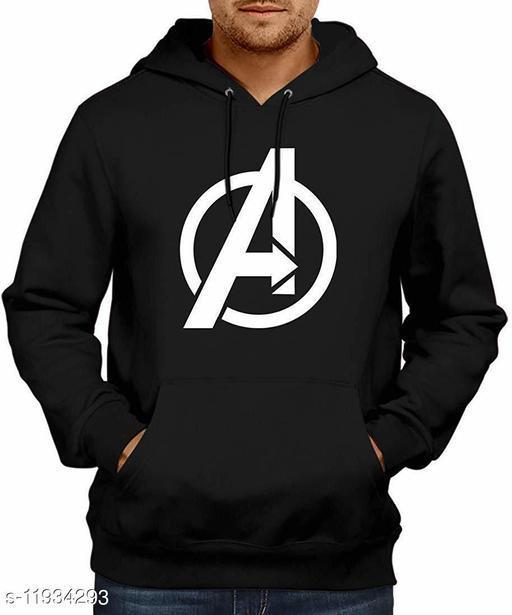 AVENGER Printed Hooded Neck Sweatshirt for Men