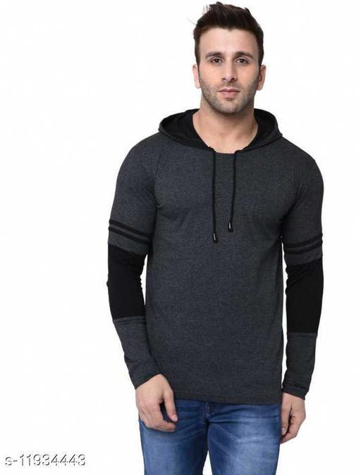 Men's Hooded Full Sleeves Winter T-shirts
