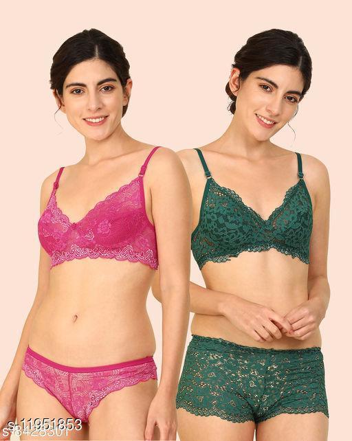 Women's Lace Net Lingerie Sets