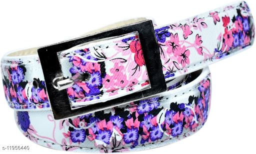 Variety & Capture Women Casual Purple Artificial Leather Belt
