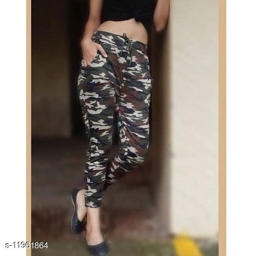 Sizzlacious Women's & Girls Army Printed Jeggings