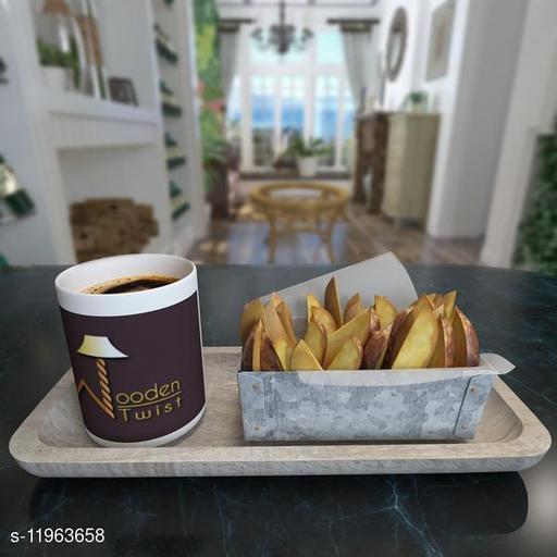Fancy Solid Mango Wood Premium Tray/Platter