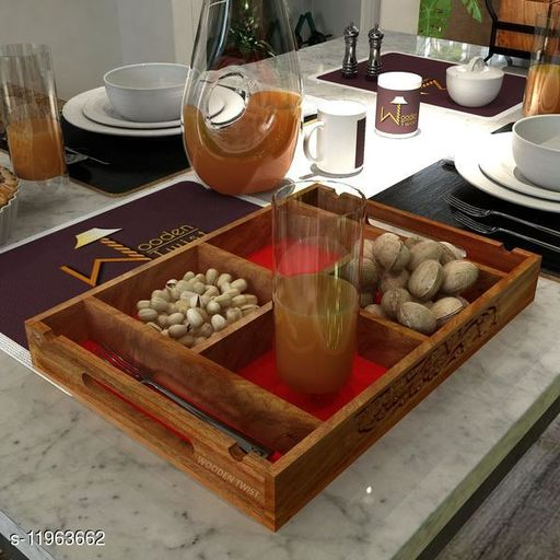 Wooden Designer Sectional Serving Tray