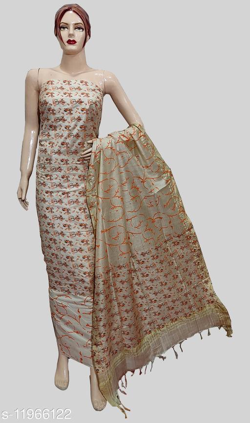 Cotton Silk Block Warli Printed Suit
