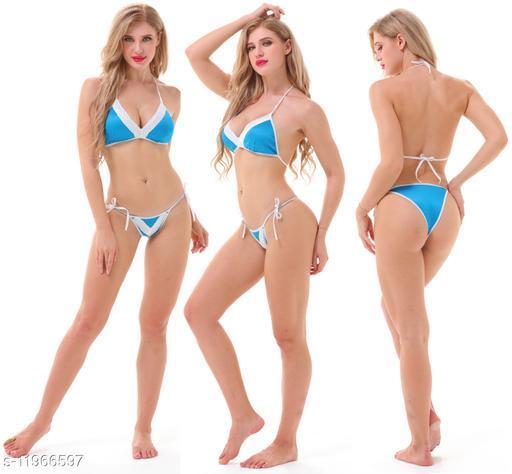 Women's Self-Design Poly Blend Lingerie Sets