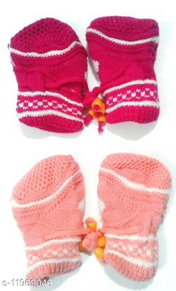 Baby Soft Woolen Socks (0-3 Years – Set of 2 Pairs) Print and Color May Vary
