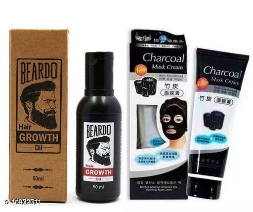 Beardo Hair Growth & Charcoal Mask Product