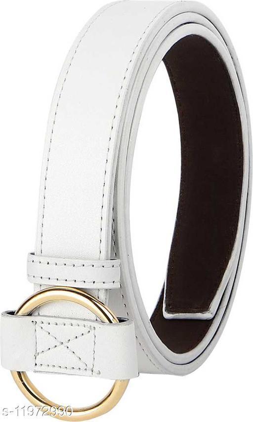 HENEDA Women White Casual  Synthetic Leatherite Belt