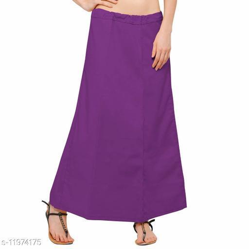 Pure Cotton Saree Petticoat Violet Color Free Size