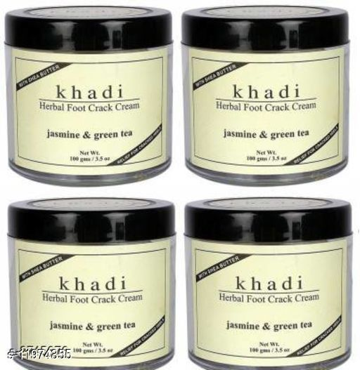 Khadi Herbal Jasmine & Green Tea Herbal Foot Crack Cream With Sheabutter(Pack of 4)