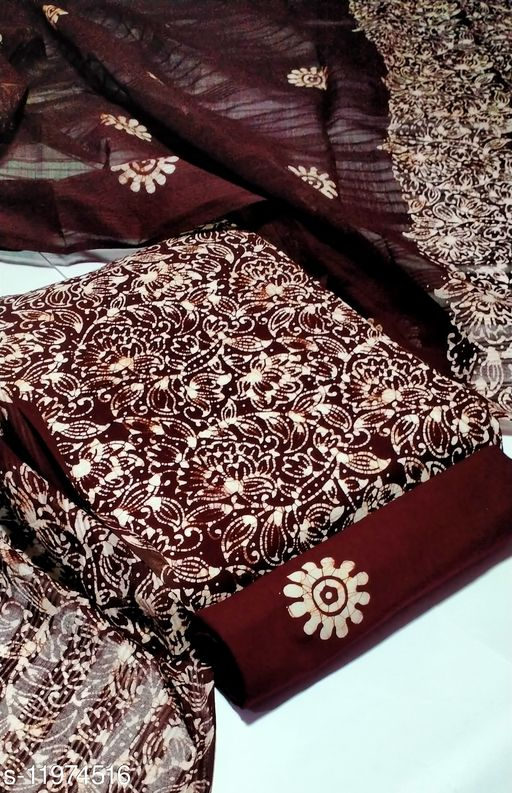 Exclusive Cotton Printed Dress Material Suit For Women
