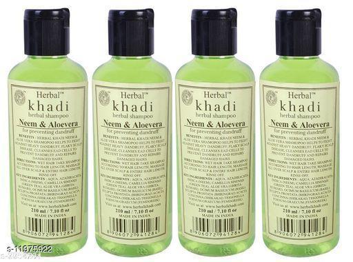 Khadi Herbal Neem & Aloevera Shampoo - 210ml (Set of 4)