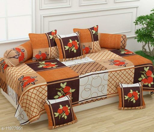 HOMESENSE Embroidery Poly cotton diwan set