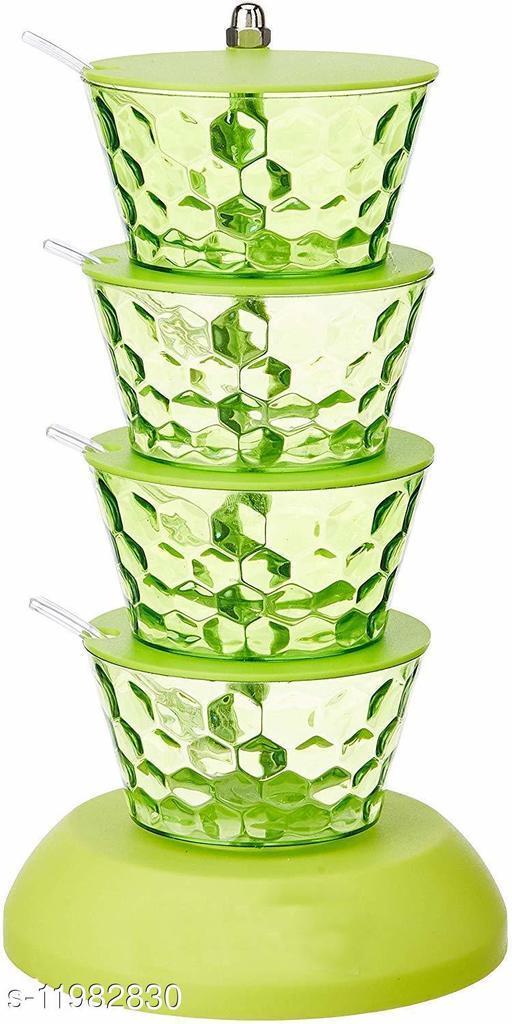Plastic Pickle Jar Container (4 pcs)