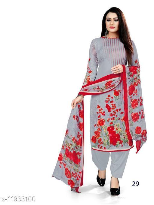 Cotton Blend Printed Unstitched Salwar Suit Material