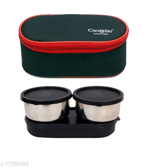 3 in 1 Black-Red (All Black) Lunchbox
