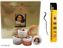 Shahnaaz hussain Gold facial kit free kajl