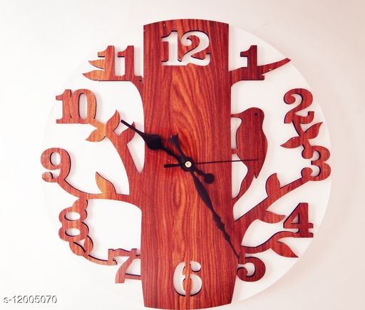 Trendy Wooden Wall Clock For Home Design