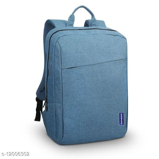 Trendy Unisex Blue Polyester Laptop Backpack