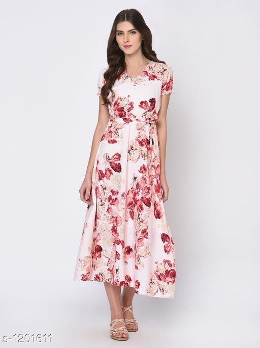 Women's Printed White Dress