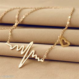 Latest Heartbeat Necklace Chain for Women and Girls