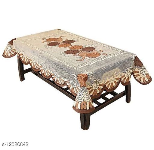 Treffen Creation Presents Net Tissue Centre Table Cover/Table Cloth for 4 Seater (40 inches X 60 Inches )