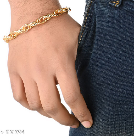 AanyaCentric Gold Plated Bracelet Casual Unique Men Jewellery