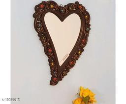 Wooden Antique With Handicraft Work Fancy Design Mirror