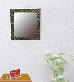 Wooden Decorative Wall Mirrorr Square Shape