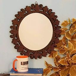 Beautiful Design Mirror with Wooden Frame