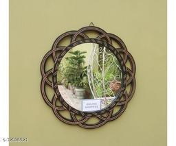 Wooden Antique With Handicraft Work Fancy Design Mirror Frame