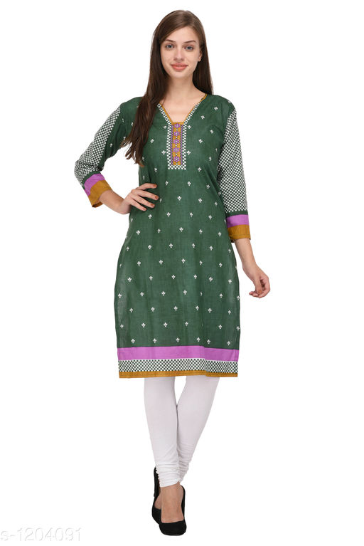 Kurti Fabric Trendy Cotton Printed Kurti Fabric Fabric: Cotton Size: 2.25 Mtr TYPE :  Un-Stitched Description: It Has 1 Piece Of Women's Kurti Fabric Work : Printed  Sizes Available: Un Stitched    Catalog Name: Anjala Cotton Printed Kurti Fabrics Vol 1 CatalogID_151145 C74-SC1326 Code: 422-1204091-