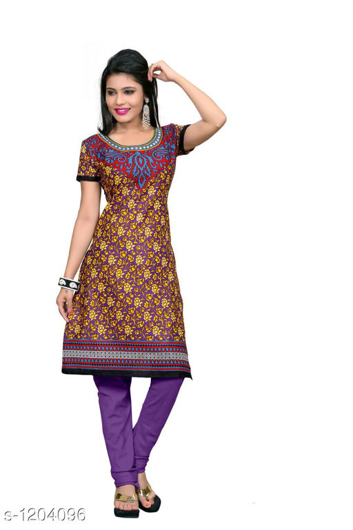 Kurti Fabric Trendy Cotton Printed Kurti Fabric Fabric: Cotton Size: 2.25 Mtr TYPE :  Un-Stitched Description: It Has 1 Piece Of Women's Kurti Fabric Work : Printed  Sizes Available: Un Stitched    Catalog Name: Anjala Cotton Printed Kurti Fabrics Vol 1 CatalogID_151145 C74-SC1326 Code: 422-1204096-