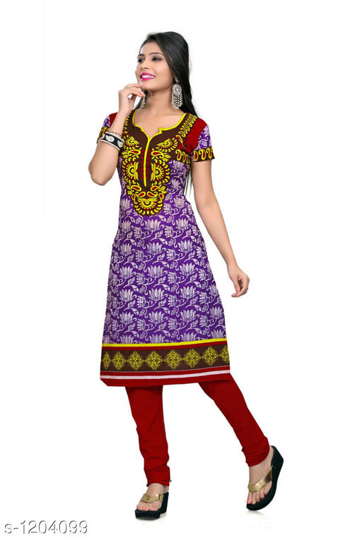 Kurti Fabric Trendy Cotton Printed Kurti Fabric Fabric: Cotton Size: 2.25 Mtr TYPE :  Un-Stitched Description: It Has 1 Piece Of Women's Kurti Fabric Work : Printed  Sizes Available: Un Stitched    Catalog Name: Anjala Cotton Printed Kurti Fabrics Vol 1 CatalogID_151145 C74-SC1326 Code: 422-1204099-
