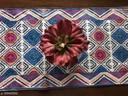 The Home Talk Velvet Printed Table Runner- Festive Season Soft Shiny Dining Room Decor- 14x72 inch (Multicolor)
