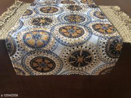 The Home Talk Velvet Printed Table Runner- Festive Season Soft Shiny Dining Room Decor- 14x72 inch (Gold Mandala)
