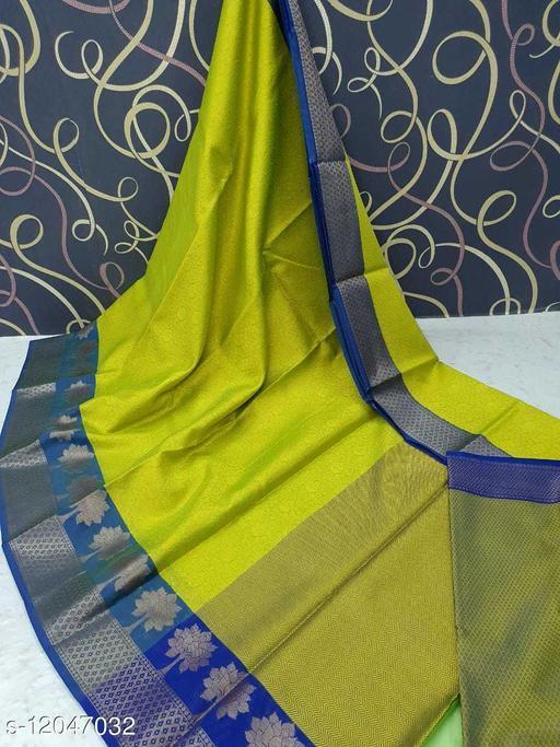 Banarasi Design Muslin Border Fancy  Saree