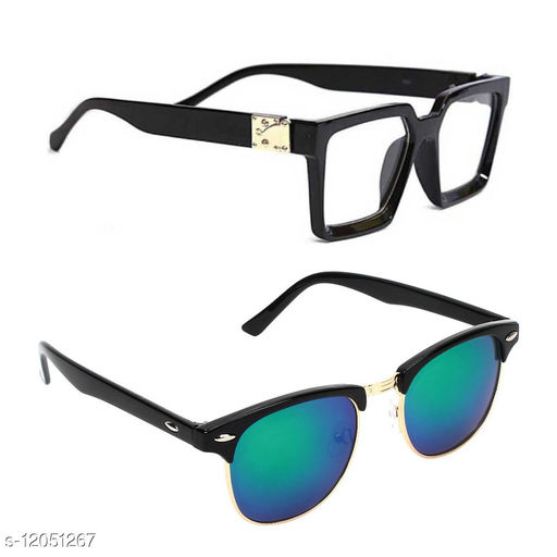 Alvia Combo of 2 Sunglasses Form Men and Women
