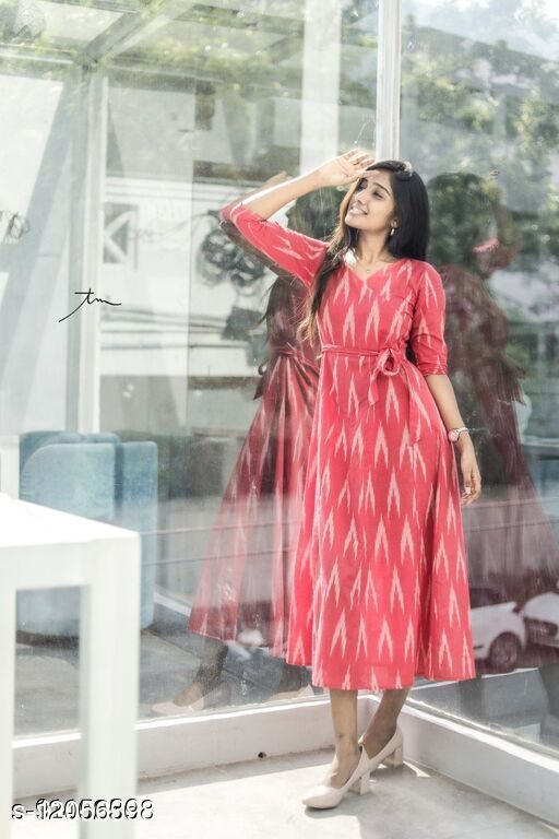 Women's Solid Cotton Dresses