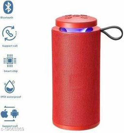 TG112 Wireless Bluetooth Speaker with FM Radio, Micro SD card and USB Slot and TWS feature (Red)